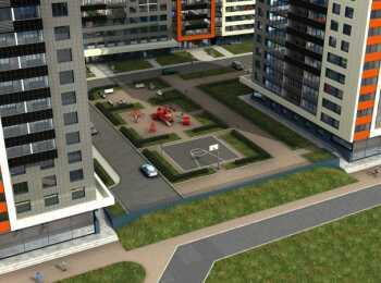 Высота домов 14-21 этаж в ЖК Прибалтийский